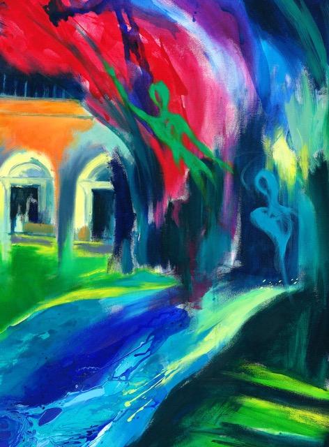 Oaxacan Night, Acrylic on canvas,117x148cm ( detail)